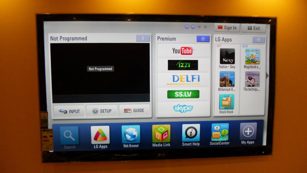 LG TV with Wi-Fi adapter