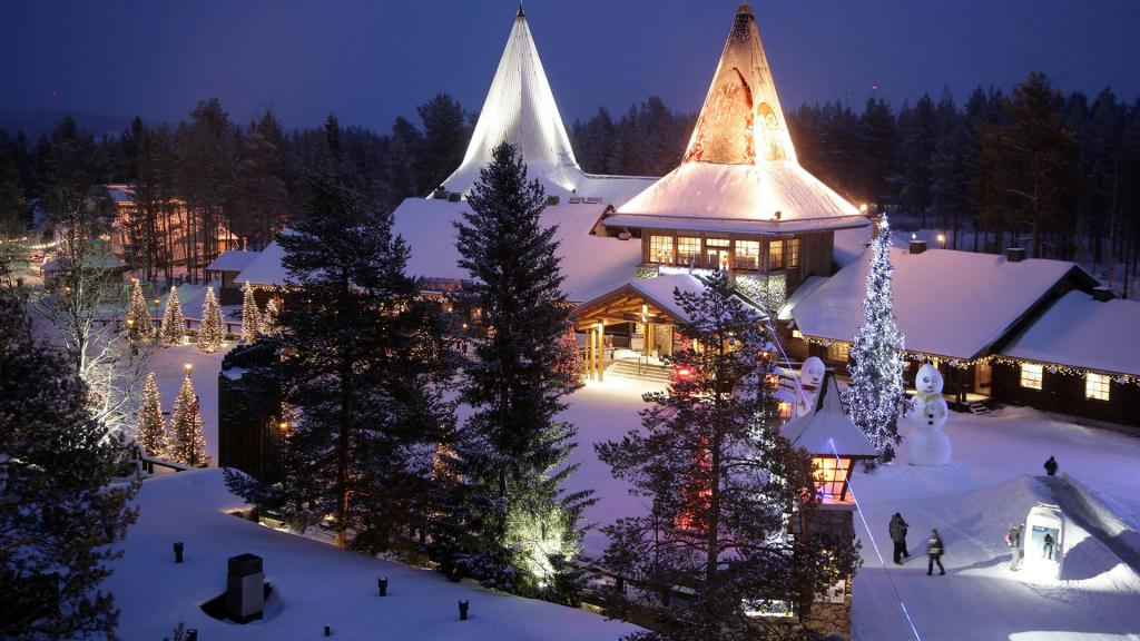 New Year in the village of Santa Claus