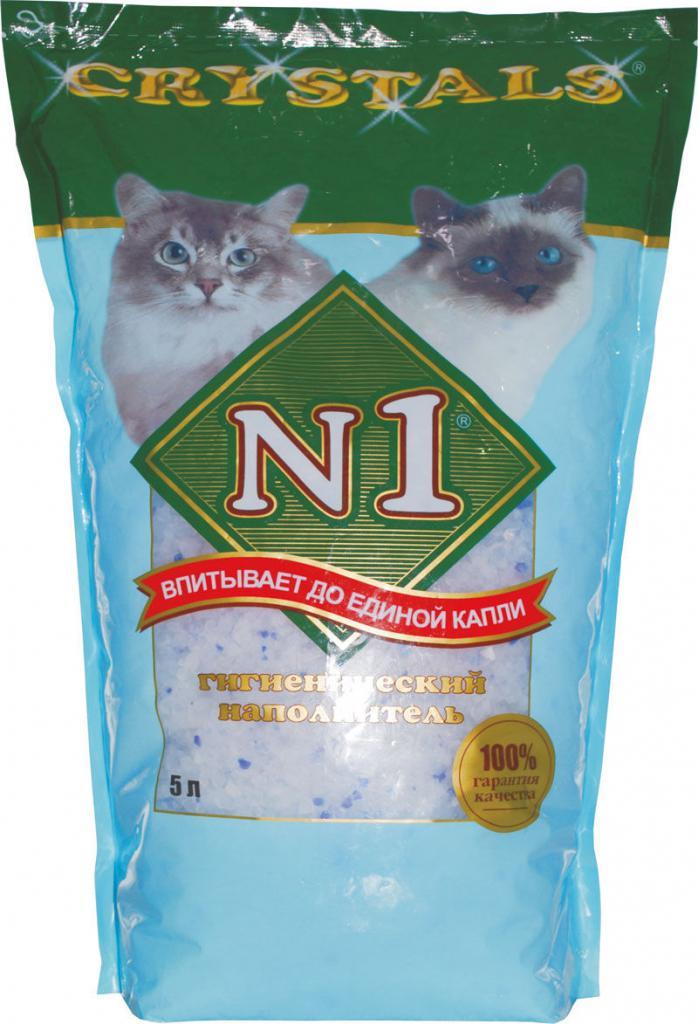 наполнитель для кошачьего туалета силикагель crystals 1