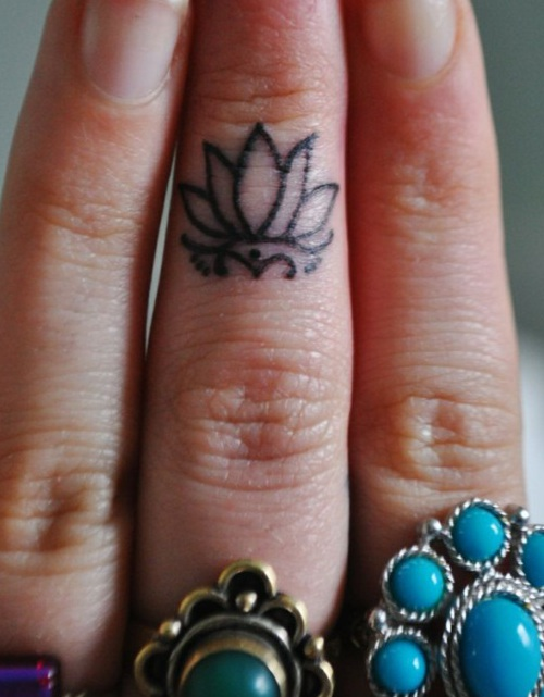 lotus on the finger