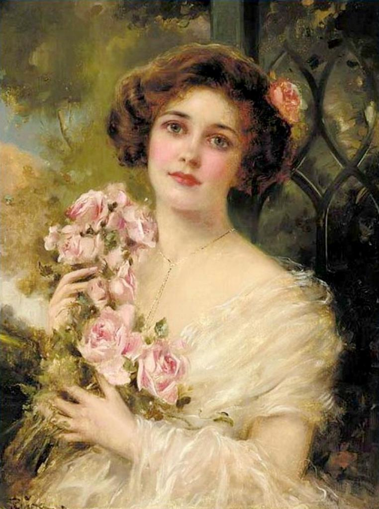 Young lady. Emile Vernon.