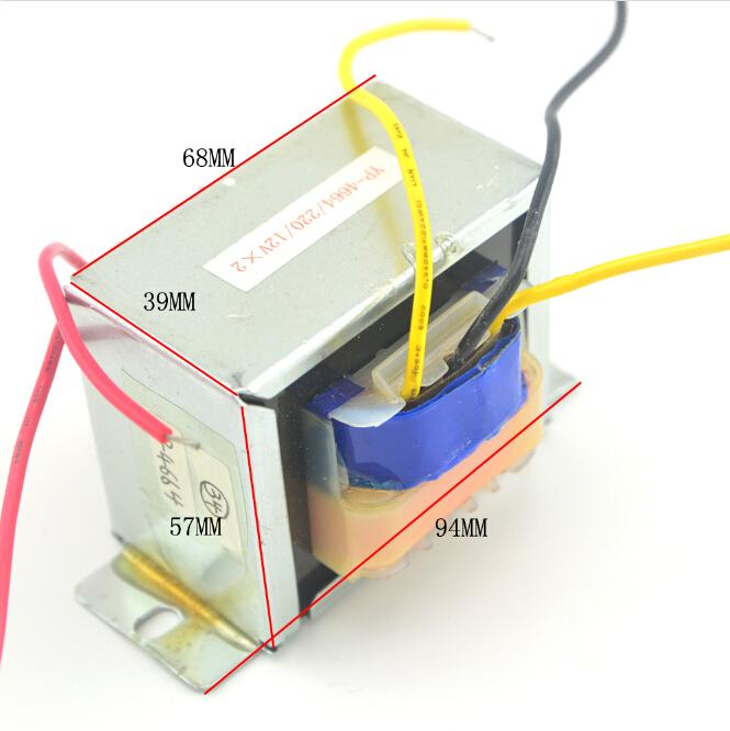 Transformer size 12 V