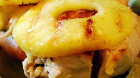 Куриные отбивные с сыром и ананасом