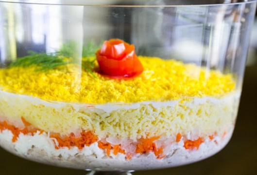 потом мимоза салат со сливочным маслом с фото сохранилась настоящего