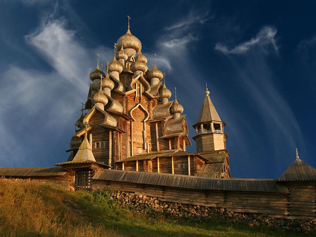 Церковь Кижи лодка Россия загрузить