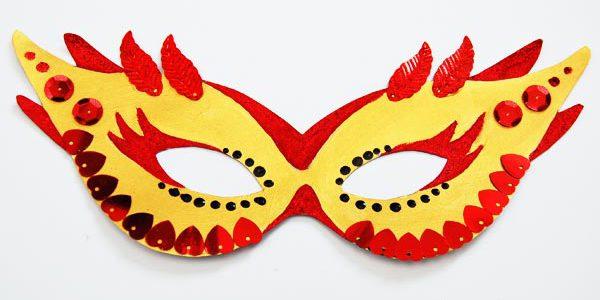 как раскрасить карнавальную маску