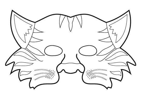 контуры маски животного