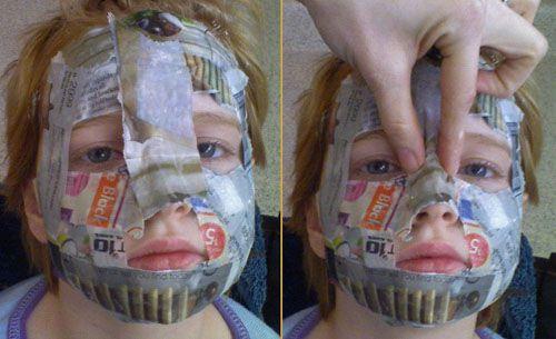 как сделать ребенку маску папье-маше
