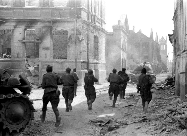 Бегущие солдаты