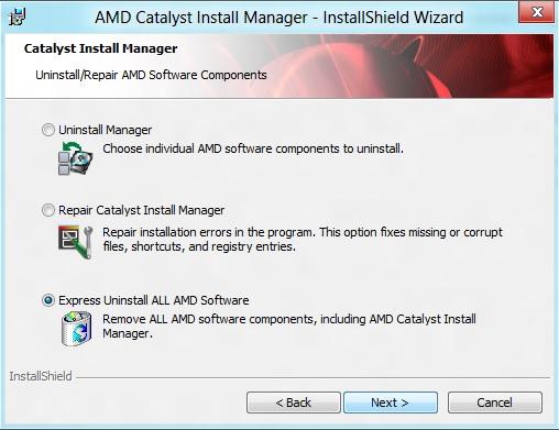 Удаление компонентов пакета Catalyst