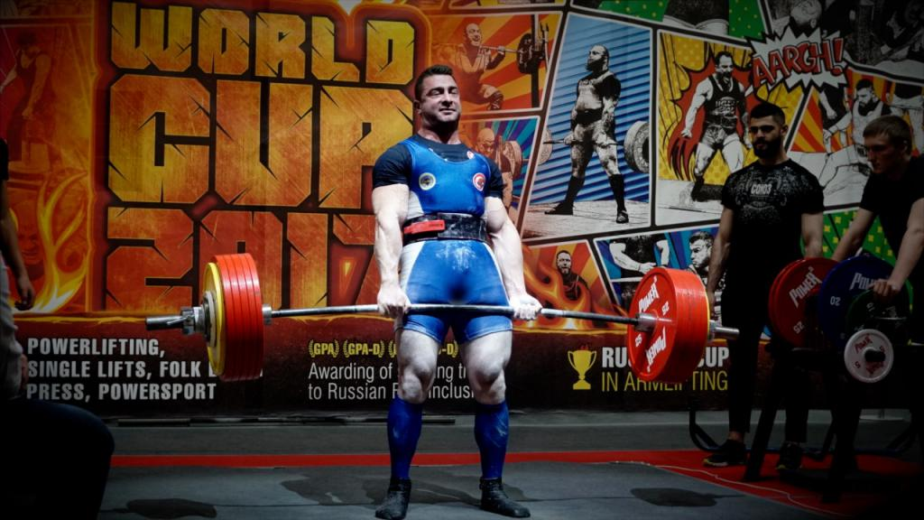 Athlete at Powerlifting Competition