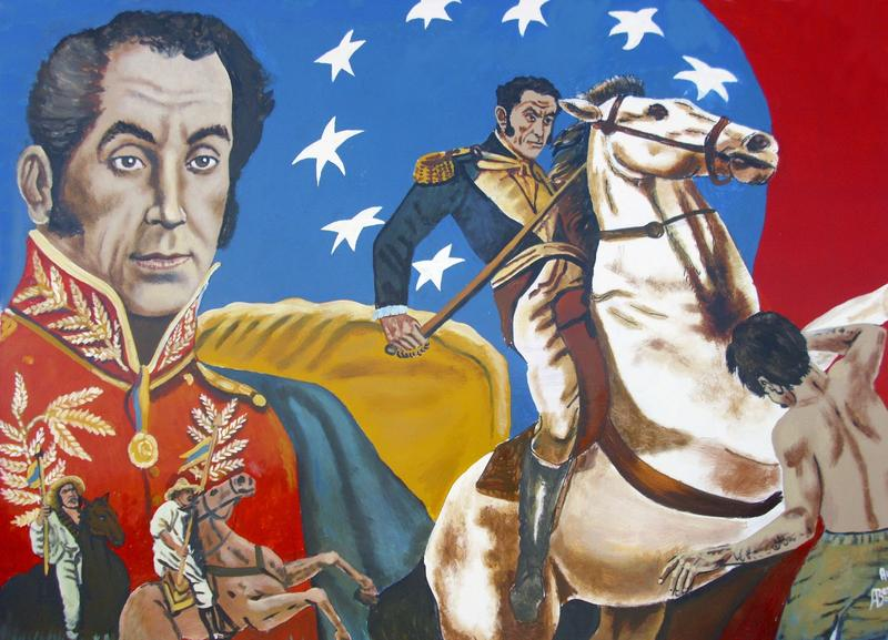 Bolivar is depicted on the coins