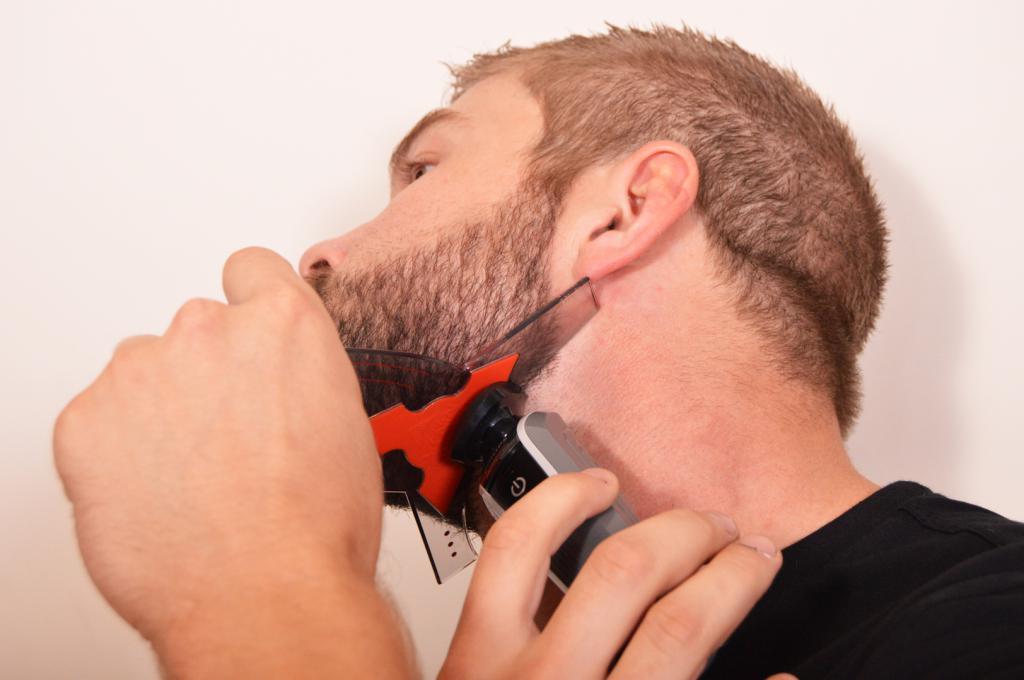 Beard trimming tool