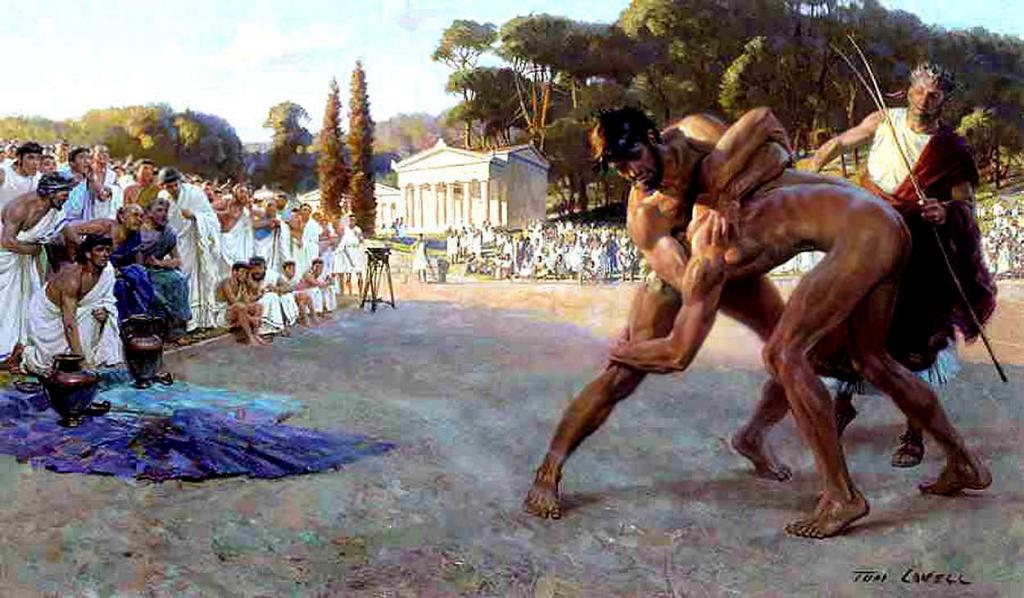 Wrestling at the Olympics in ancient Greece