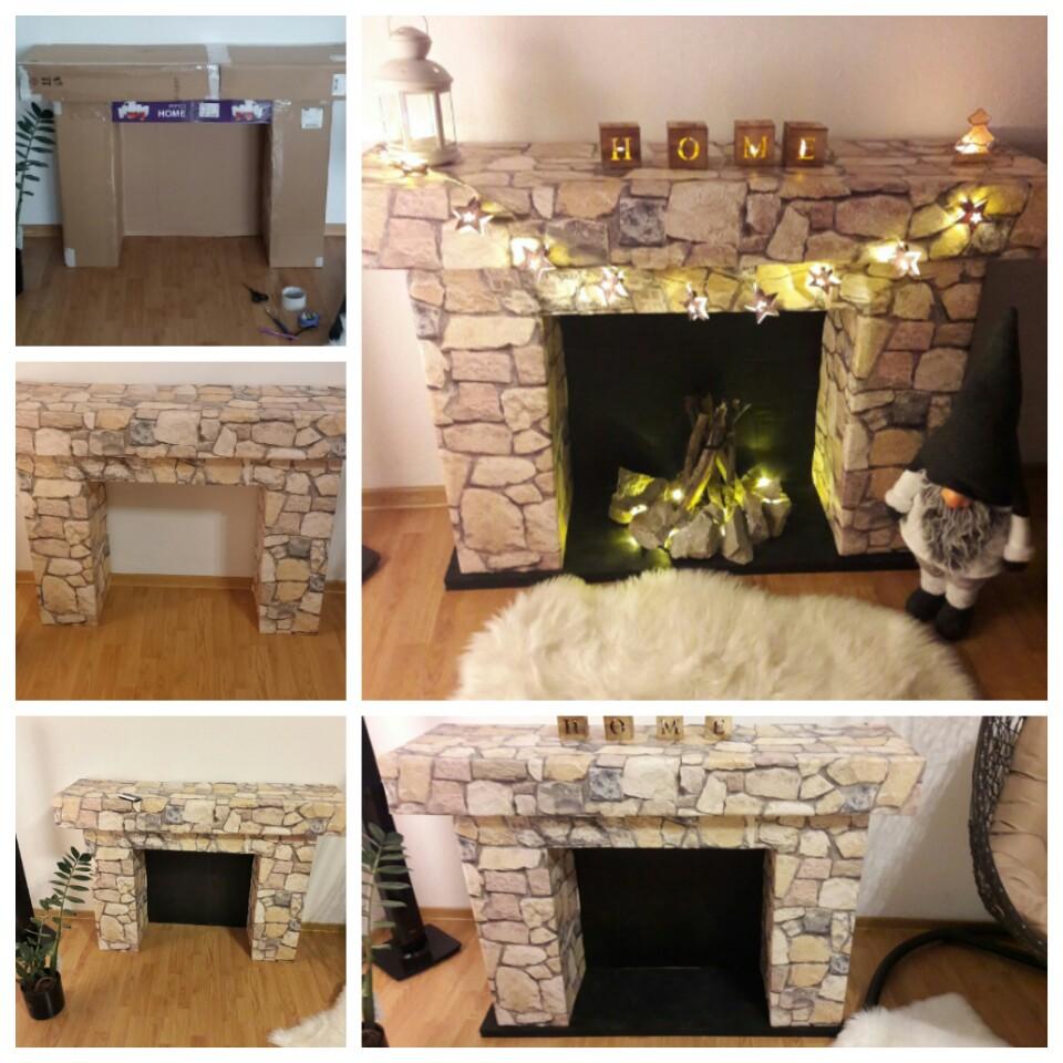 Christmas fireplace do it yourself