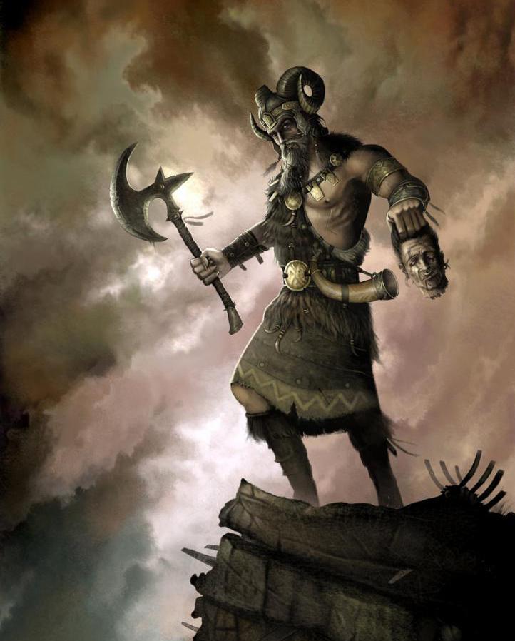 God Perun with ax