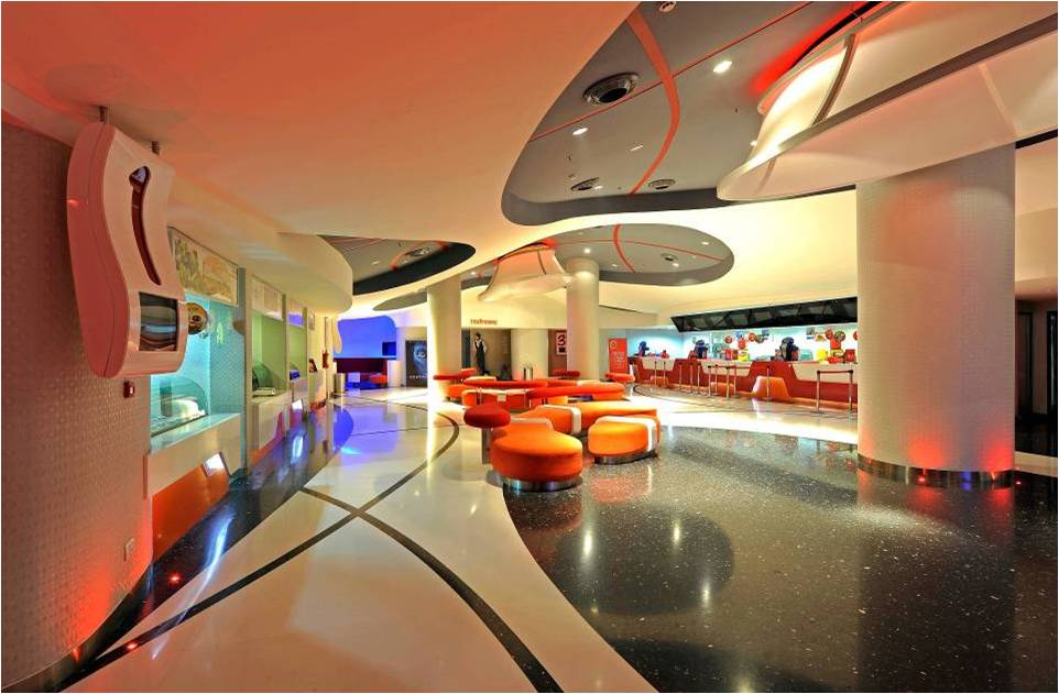 lobby of modern theater