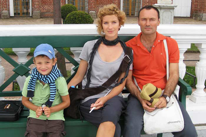 Dmytro Ulyanov with his wife