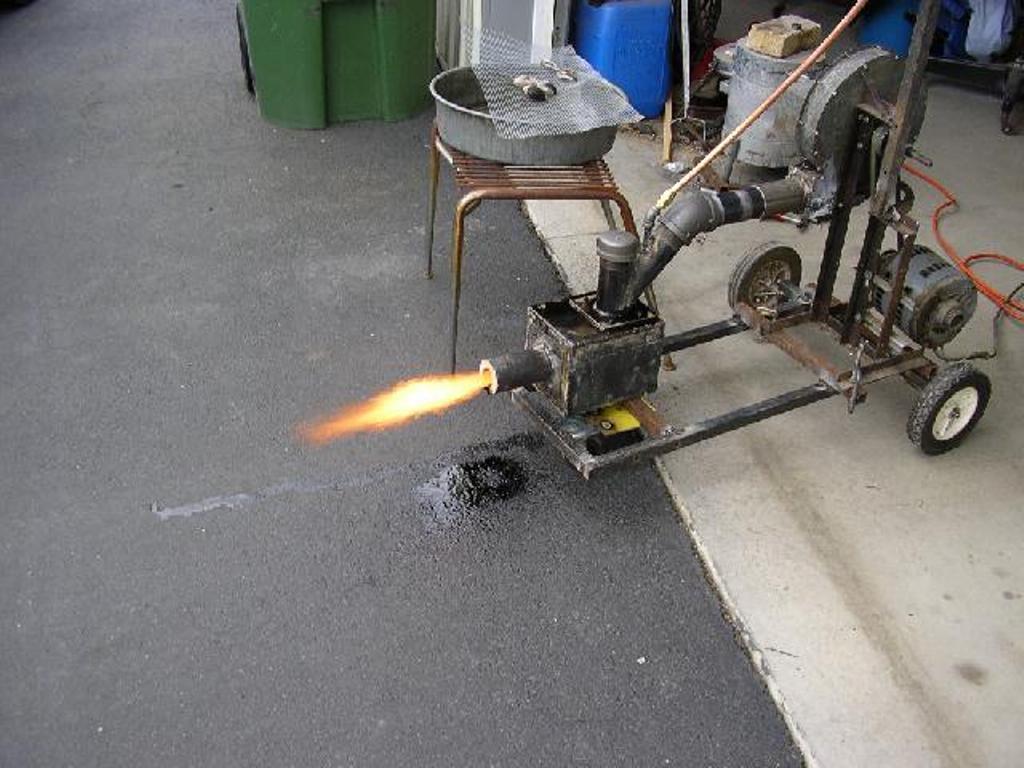 Факел пламени из горелки
