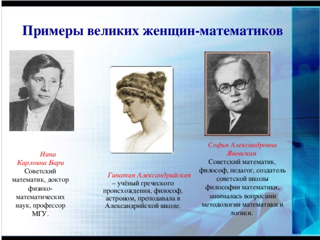 great women mathematicians of the world
