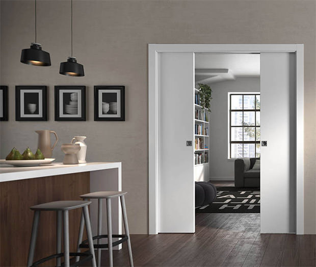 Double sliding interior doors