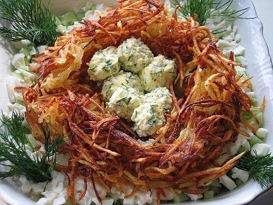 """Salad """"Grouse's Nest"""""""