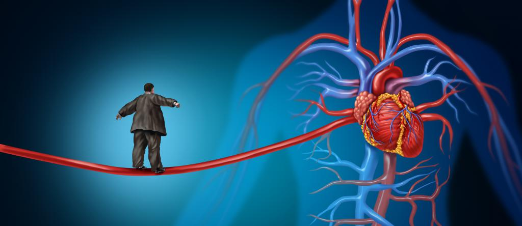 man walks through the aorta