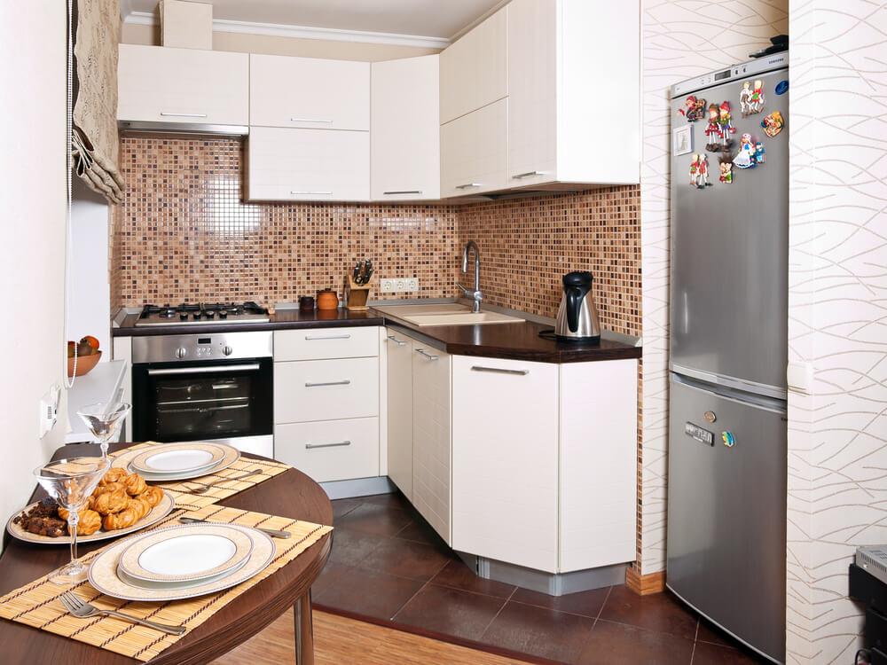 дизайн угловой кухни