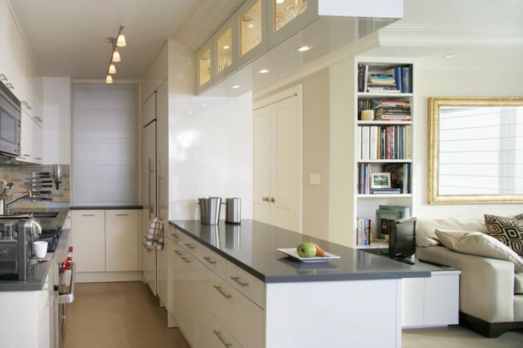 дизайн кухни с применением метода зонирования пространства