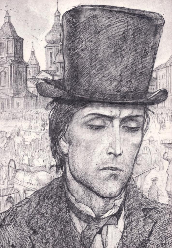 Portrait of Raskolnikov by Glazunov