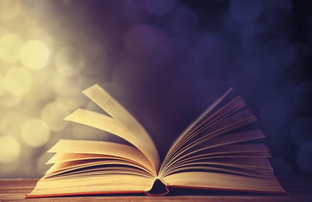 Open book, novel