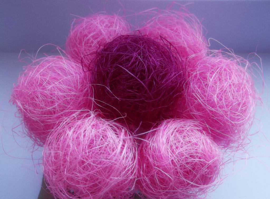 sisal fiber flower