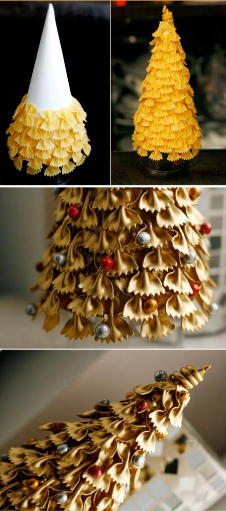 how to make a tree out of pasta