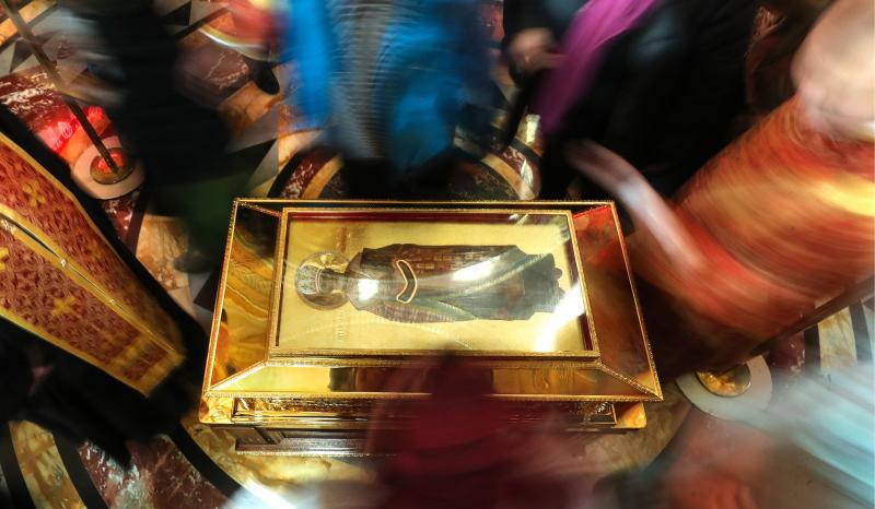 The relics of St. Nicholas