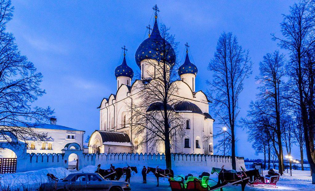Suzdal Kremlin in winter