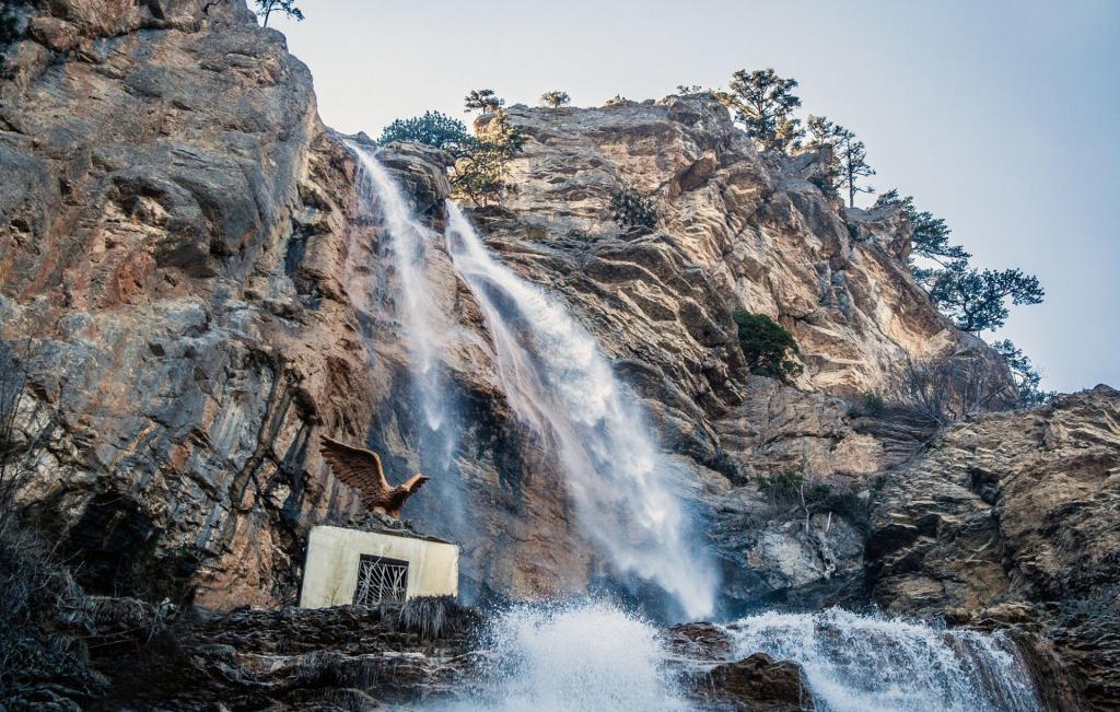 Upper cascade of the Uchan-Su waterfall