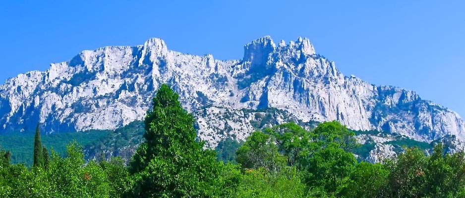 """View of the """"Dragon's Teeth"""""""