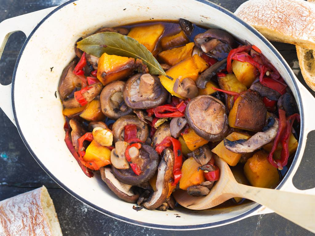 pumpkin casserole in the oven