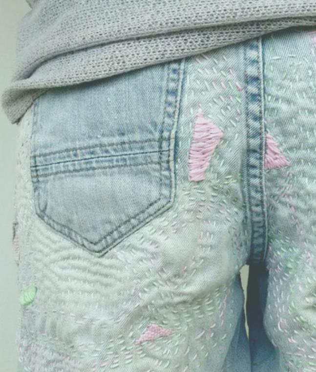 How to decorate ripped jeans