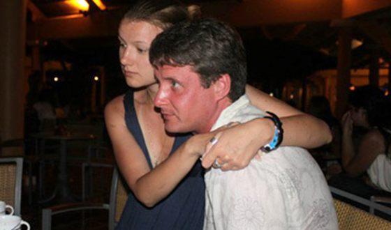 Alexander Makogon with his wife Alexandra Mikheeva