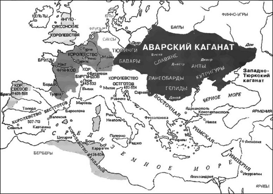 Avar Khaganate on the map