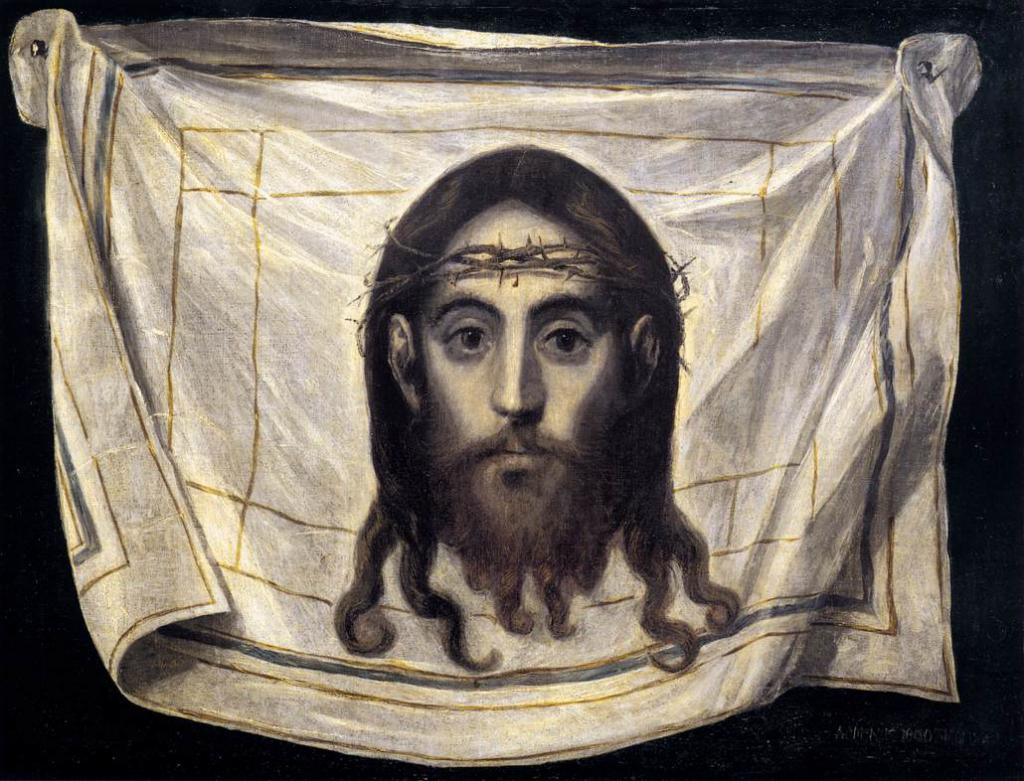 Icon of Jesus Christ in a crown of thorns