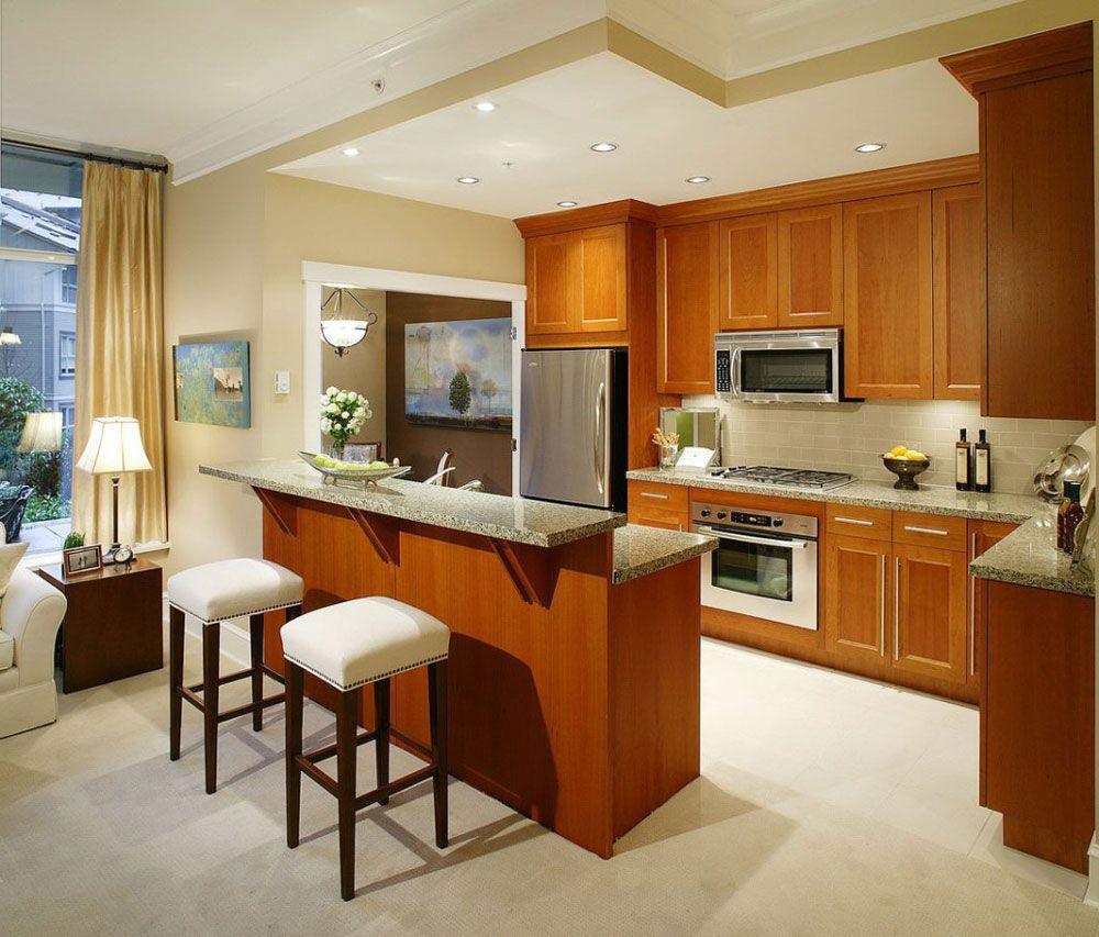 Kitchen design in a studio apartment