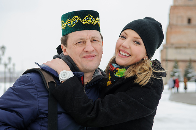 Galina Bob with her husband