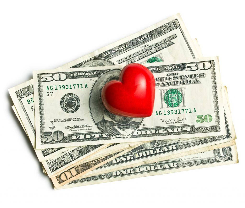 The effect of money on love