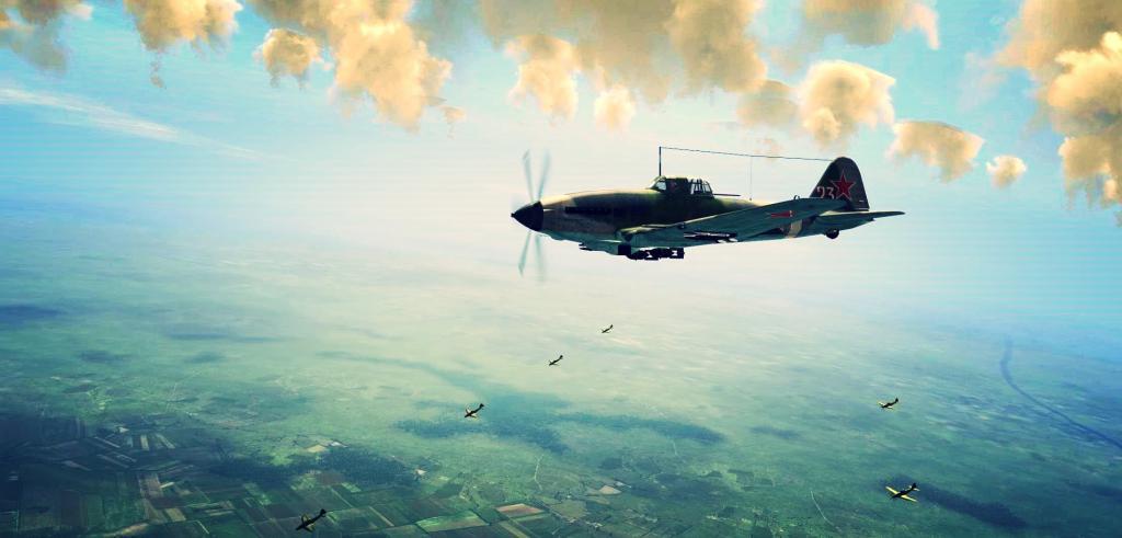 Il 10 above the sea
