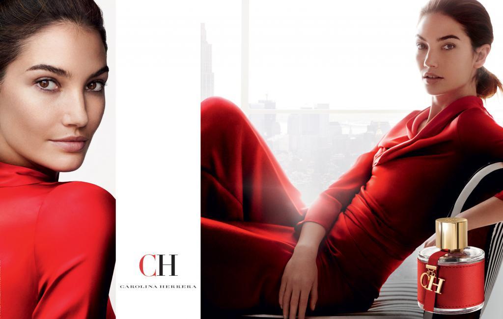 Lily Aldridge in CH Advertising by Carolina Herrera
