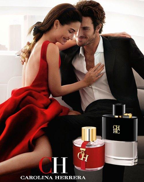 advertising for Carolina Herrera CH and CH Men