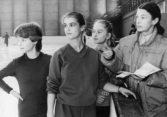 Katharina in training, 1984