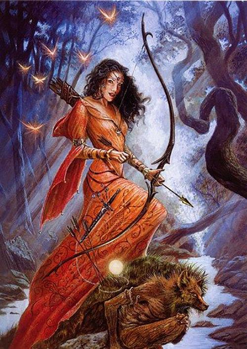 Диана, богиня охоты и луны